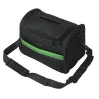 Kuferek podróżny Travelite szary z zielonymi wstawkami