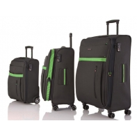 Zestaw 3 walizek Travelite exclusive, antracyt + zielony