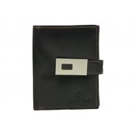Mały pojemny portfel damski Peterson, brązowy z zapinką