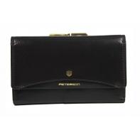 Skórzany portfel damski Peterson, brązowy