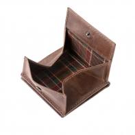 Skórzany mały portfel męski marki DuDu®, brązowy