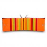 Skórzany portfel saszetka marki DuDu®, czerwony + zielony