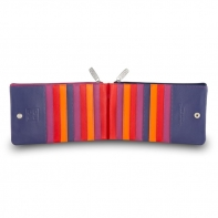 Skórzany portfel saszetka marki DuDu®, fuksja + pomarańczowy