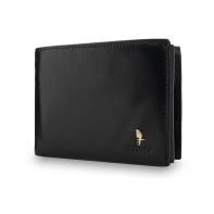 Męski poziomy portfel Puccini P20438 w kolorze czarnym z bogatym wyposażeniem