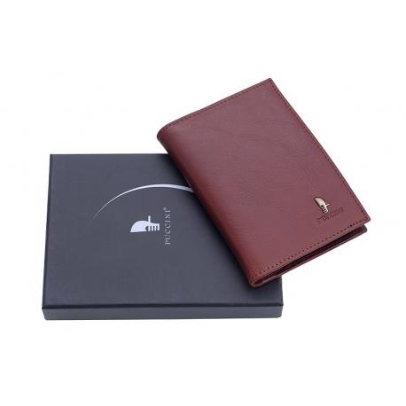 87a59bf2b1955 Etui na dokumenty Puccini P-1595 w kolorze brązowym