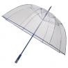 Duża przezroczysta parasolka FALCONE z niebieskim stelażem