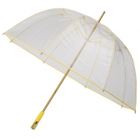 Duża przezroczysta parasolka FALCONE z żółtym stelażem