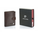 Męski portfel Pierre Cardin z zapięciem, exclusive collection, brązowy