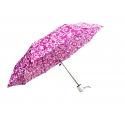Parasolka składana klasyczna w kwiaty różowa