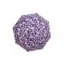 Parasolka składana klasyczna w kwiaty fioletowa