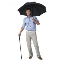 Wyjątkowy męski dwuczęściowy parasol laska - czarny