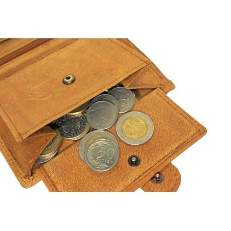 201feb985ce80 Pionowy portfel męski Always Wild ze skóry nubukowej z zapięciem - jasny  brąz