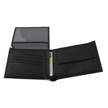 6cffad9909531 Portfel męski Calvin Klein skórzany czarny