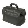 Duża torba lekarska, bardzo praktyczna, skóra naturalna, szara