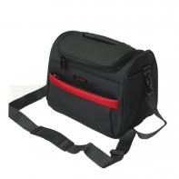 Kuferek podróżny Travelite szary z czerwonymi wstawkami