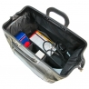 Duża torba lekarska, bardzo praktyczna, skóra naturalna, granatowa