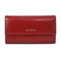 Pojemny damski portfel Pierre Cardin czerwony, nowy design