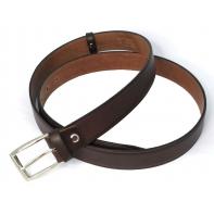 Klasyczny pasek do garnituru w kolorze brązowym