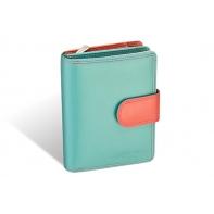 Kolorowy niewielki portfel damski Valentini, koralowy, miętowy + inne