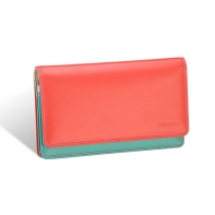 Kolorowy portfel damski Valentini, koralowy, miętowy + inne