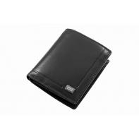 Mały męski portfel Rovicky ze skóry naturalnej, czarny