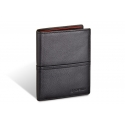 Męski pionowy skórzany portfel Valentini, czarny