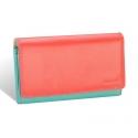 Kolorowy portfel damski Valentini, miętowy, koralowy + inne