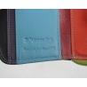Maleńki kolorowy portfel damski Valentini, czarny + inne