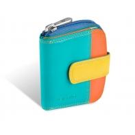 Maleńki kolorowy portfel damski Valentini, wielokolorowy