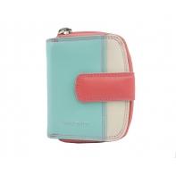 Maleńki kolorowy portfel damski Valentini, koralowy, miętowy, ecru + inne