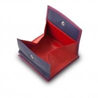 Skórzany mały portfel damski marki DuDu®, fuksja + inne