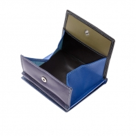 Skórzany mały portfel damski marki DuDu®, granatowy