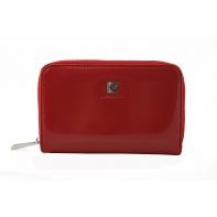 Rozbudowany portfel typu saszetka damska Pierre Cardin w kolorze czerwonym
