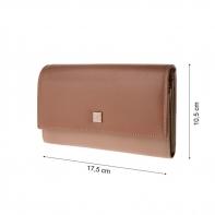Skórzany damski portfel DuDu®, beżowy, oliwkowy + inne