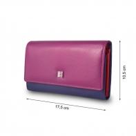Skórzany portfel damski marki DuDu®, fuksja, czerwony + inne