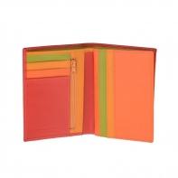 Cienki skórzany portfel damski marki DuDu®, czerwony, pomarańczowy + inne