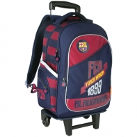 Plecak szkolny na kółkach z odpinanym stelażem FC BARCELONA Barca Fan 4 Astra