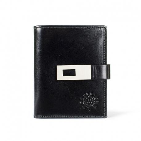 9ede1ce7be6da Mały pojemny portfel damski Peterson, czarny z zapinką