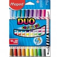10 dwustronnych spieralnych flamastrów (20 kolorów) Maped
