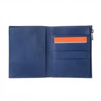 SUPER cienki portfel marki DuDu® Zip-It, granatowy