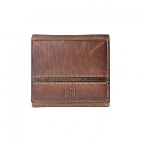 ff04a7544f0b2 Skórzany mały portfel męski marki DuDu®, brązowy