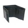Samsonite skórzany portfel męski RFID, czarny, klasyczny