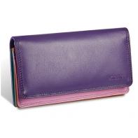 Kolorowy portfel damski Valentini, fioletowy, różowy + inne