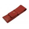 Etui na długopisy Puccini w kolorze czerwonym, skóra