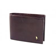Męski portfel Puccini P20440 z piekiełkiem w kolorze brązowym