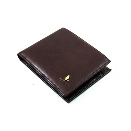 1fff5cd055127 Męski portfel Puccini P20440 z piekiełkiem w kolorze brązowym