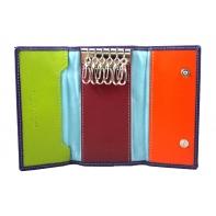 Etui na klucze marki DuDu®, fioletowy + kolorowy środek
