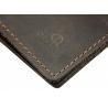 Skórzany super cienki portfel męski (SLIM WALLET) Orsatti, brązowy