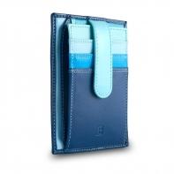 Skórzany portfel na karty marki DuDu®, niebieski