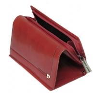 Ciemno czerwony damski portfel damski Pierre Cardin